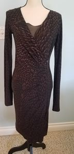 Max Mara subtle leopard print sexy dress